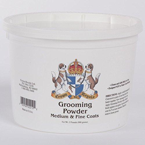 Crown Royale 0002210 Medium Fine Pet Grooming Powder, 2 lb - Grooming Powder
