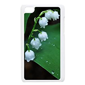 Ipod Touch 4 Cases White Lily of the Valley, Ipod Touch 4 Cases Lily For Guys, [White]
