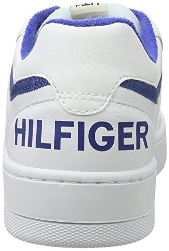 Tommy Jeans Herren P2385layer 2a Zehenkappen Weiß (White-Monaco Blue)