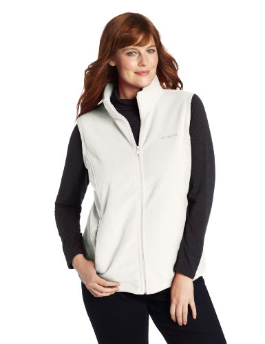 (Columbia Women's Benton Springs Plus Size Vest, Sea Salt, 3X)