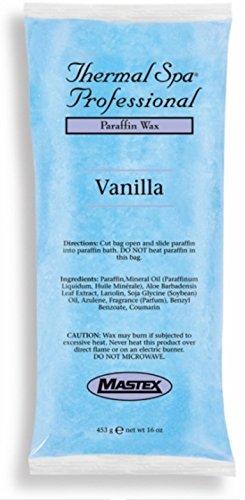 Mastex Thermal Spa Paraffin Vanilla 1lb Parafin Wax