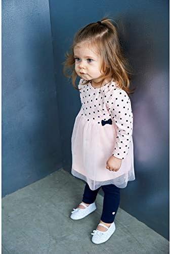 Feetje Baby-M/ädchen Kleid Langarm mit Punkteprint und T/üllrock