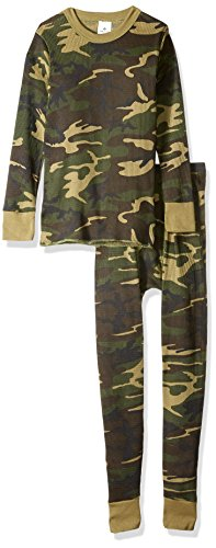 Indera Men's Woodland Camouflage Thermal Underwear Top, WoodlandCamo, Medium Camo Thermal Underwear Top