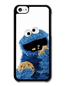 AMAF ? Accessories Cookie Monster Muppet Eating Biscuits with White Background case for iphone 4s