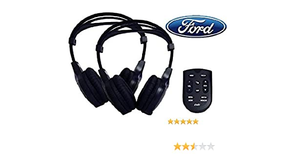NEW Ford Rear Entertainment System 2 Headphones /& 1 Remote 8A8T-19C005-AA
