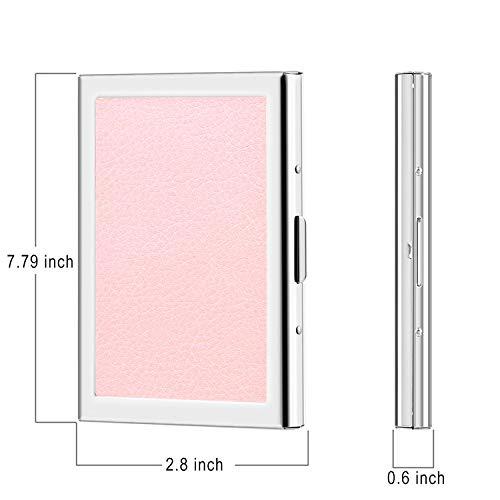 Fentes 6 Pochette Finition Inoxydable Teintée Cuir Bidafun Et Crédit De Protection Porte Rosé Acier cartes wxnHqPRZA