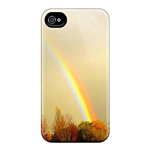 AAmYyOu6418DEJlf ScoDay Awesome Case Cover Compatible With Iphone 4/4s - Autumns Rainbow