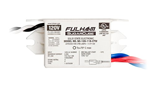 Fulham SC-120-118-CTW Sugar Cube Ballast by Fulham Lighting