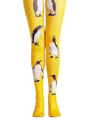 - Licheng Bridal 60 Denier Semi-opaque Pattern Print Tights Stylish Stockings Original Leggings Tattoo Panties Penguin