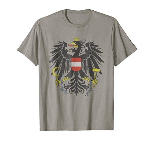 Mens Austrian Flag Austria Coat of Arms Vienna Eagle T Shirt XL (Austria Coat Of Arms)