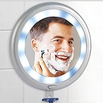 Superieur Ideaworks Fogless LED Shower Mirror   12 Super Bright Lights U0026 3 Strong  Suction Cups