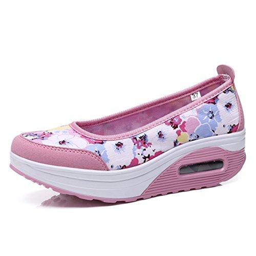 zapatos de malla transpirable ms/El aumento de calzado deportivo de fondo grueso/escogen los zapatos de las mujeres I