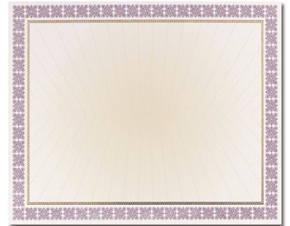 (Price/Pack)Masterpiece Studios 963023 Westminster Purple Certificate Foil ()