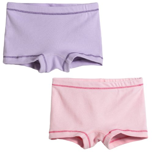 (City Threads Girls' 2-Pack BoyShorts Perfect for Sensitive Skin SPD Sensory Friendly Clothing For School Play and Under Dresses Bike and Dance, Ballerina, 5)
