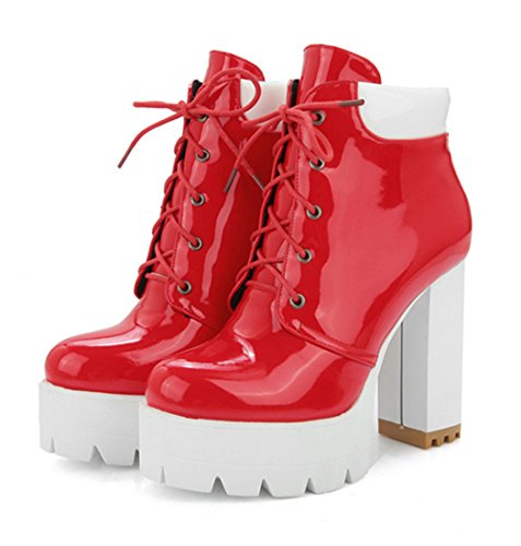 Mujer botas Rojo clásicas Mujer YE YE YE clásicas botas Mujer clásicas Rojo YE botas Rojo botas 8R86qBw