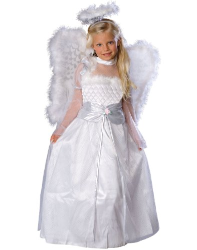 [Rubies White Rosebud Angel Costume M] (Group Office Costumes)