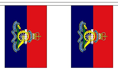 British Army - Royal Artillery Regiment String 30 Flag Polyester Material Bunting - 9m (30') Long ()