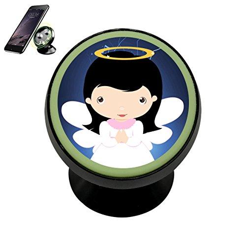 Se50K Cartoon Angel Baptism Vehicle Phone Mount Magnetic Phone Car Bracket Holder Noctilucent Mobile Magnets Universal Cell Phone iPhone Kit ()