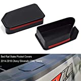 EDBETOS Truck Bed Rail Stake Pocket Covers for Chevy Silverado GMC Sierra Stake Hole Plugs 2014-2018 ,Pickup Odd Shaped Holes Stake Hole Cover Caps