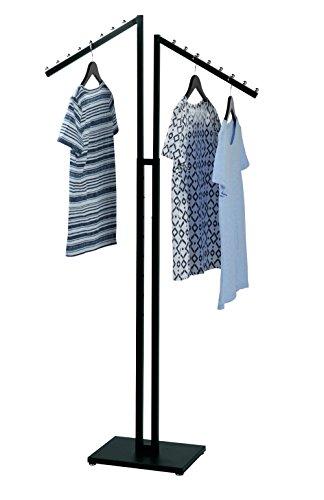 SSW Basics LLC Black 2-Way Clothing Rack with Slant Arms - Slant Arms