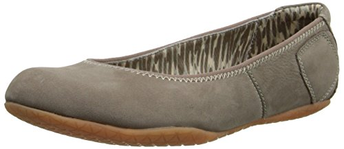 Hush Puppies Donna Zion Tol Slip-on Mocassino Taupe Nabuk