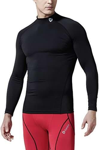 Tesla Men's Mock Long-Sleeved T-Shirt Cool Dry Compression Baselayer T11