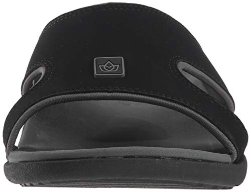 Spenco Men's Kholo Plus Slide Sandal, Carbon/Pewter, 14 Medium US by Spenco (Image #4)