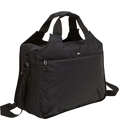 derek-alexander-top-zip-travel-tote-bag-black