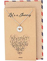 Compass Necklace Graduation Gifts for Woman,...