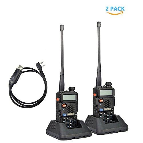 2Pack Baofeng UV-5R Dual-Band 136-174/400-480 MHz Ham Two-wa