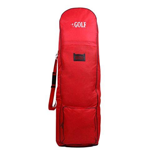 sjwithus Jingolf Golf Travel Bag Cover Wheeled Red color ()