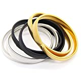 garment fit band - Coolrunner 6 Pcs Anti-slip Elastic Shirt Sleeve Holders Metal Armbands for Band Stretch Garters