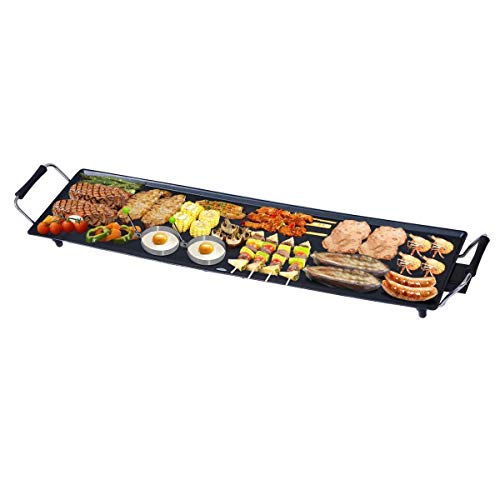 GLOBAL SUPPLIES GS-8516 Electric Teppanyaki Table Top Grill Griddle