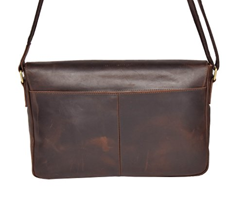 Shoulder House Bag Satchel A4 Cross H009 Organizer Woman Real Brown Vintage Leather Body Of Leather qU1wq8