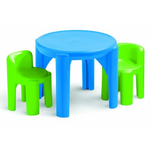 Plastic Kids 3 Piece Table & Chair Set Age 2 to 6 Years by Little Tikes