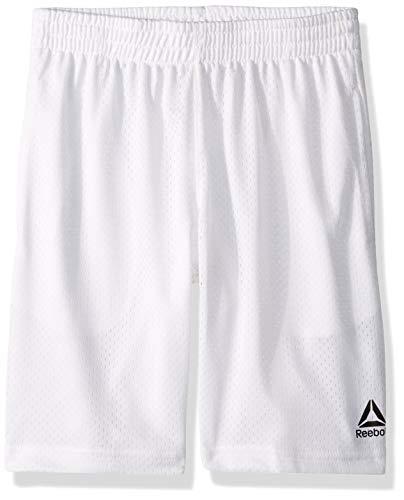 Reebok Boys' Big Basketball Short, Classic White, 14/16