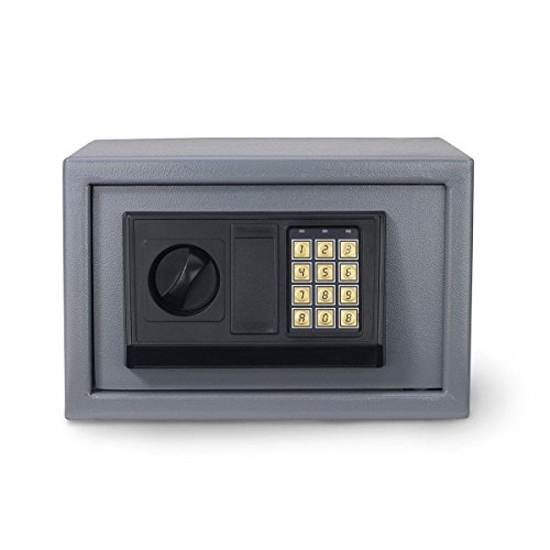 "Te echo de menos Electronic Safe 12"" Digital Home Security Lock Box Keypad Keyless & Key Entry"