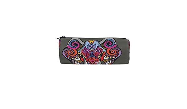 e9e6cb143f3d Amazon.com : BETTKEN Zipper Pencil Case African Tribal Elephant Roll ...