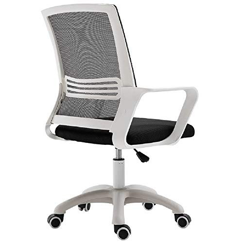Breathable Mesh Office Chair Sturdy Arms And Back Support Ergonomic Desk Chair With Wheels High Back Office Swivel Chair Computer Chair Desk Chair High Back Chair Breathable ( Color : White )