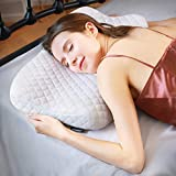 HOKEKI Pillow Ergonomic Cervical Sleeping Pillow for Neck Pain Support for Back, Stomach, Side Sleepers Premium Memory Foam Pillow Removable and Washable Cover White(Standard Size)