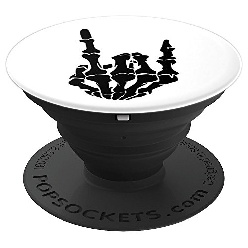 Heavy Metal Rock Skeleton Hand Decal Music Lovers Gifts - PopSockets Grip and Stand for Phones and Tablets