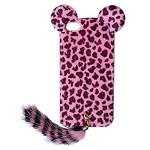 CECT STOCK Nueva edición del estampado leopardo protectora de plástico con la cola para el iPhone 5/5S (colores surtidos) , Blanco