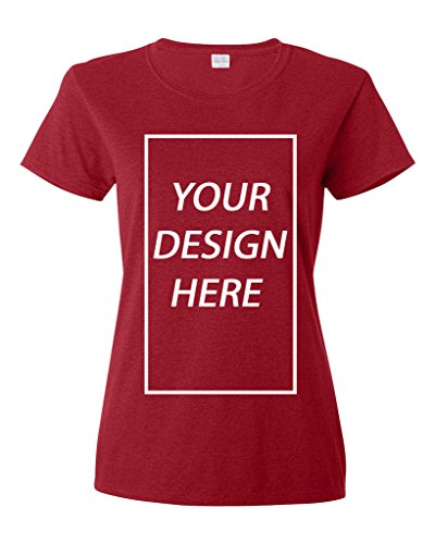 Ladies Add Your Own Text Design Custom Personalized T-Shirt Tee