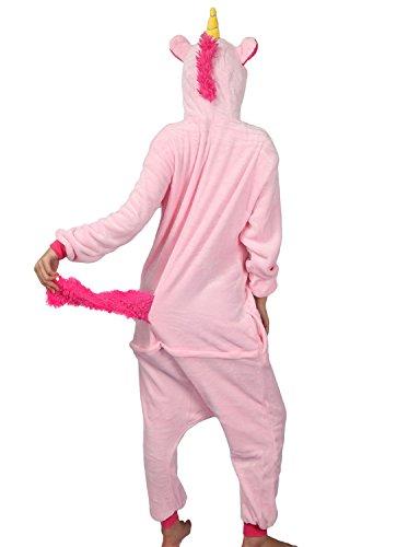 Pigiama o Costume di Carnevale Halloween Pigiama Cosplay Party Onepiece Intero Animali Unicorno Regalo di Compleanno Per Adulti Adolescenziale Ragazzi (XL(178-188cm), Rosa)