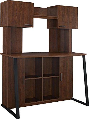 (Ameriwood Home Hanson Desk with Hutch, Cherry)