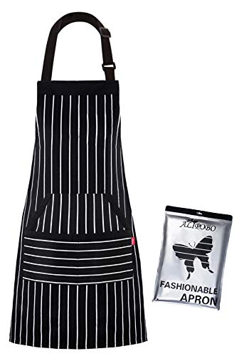 ALIPOBO Kitchen Cooking Apron for Women and Men, Adjustable Chef Bib Apron with Pockets - 32