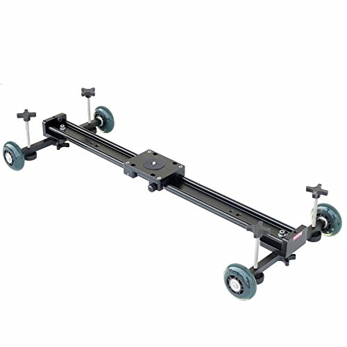 Camtree Flyfilms Adjustable Axles DSLR Dolly Track Pulley Rail Car Slider 24'/0.6m with Bush Technology For 15Kg Camera Load Nikon
