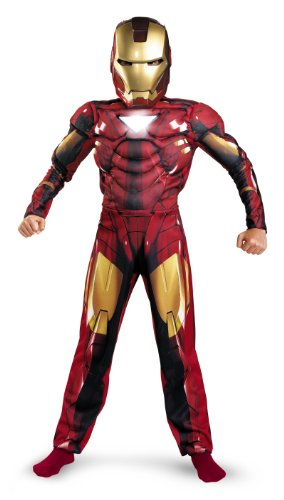 Iron Man 2 Mark 6 Classic Muscle Costume, Child L(10-12)