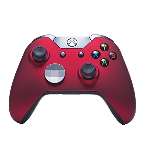 7 Watts Xbox One Bravo Modded Controller, Soft Touch Red Shell, Rapid Fire Mod