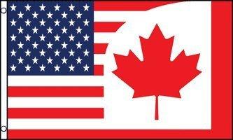 Canada - US Friendship FLAG, 3'x5' COMBINATION United States America Canadian (America Canada Flag)